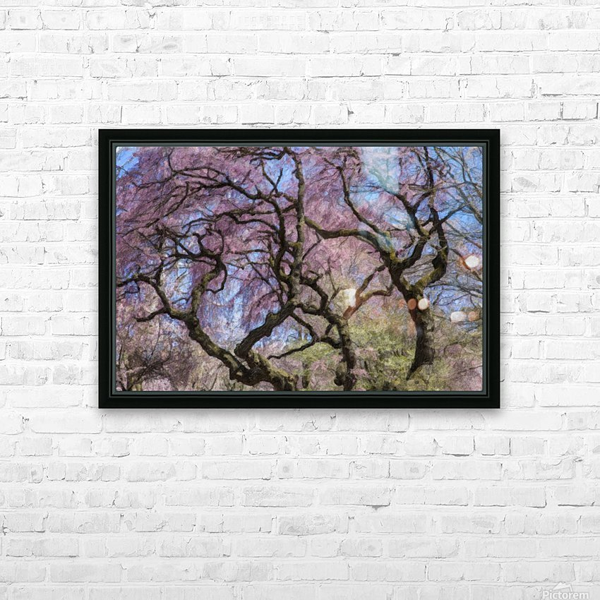 Abstract Cherry Blossom tree HD Sublimation Metal print with Decorating Float Frame (BOX)
