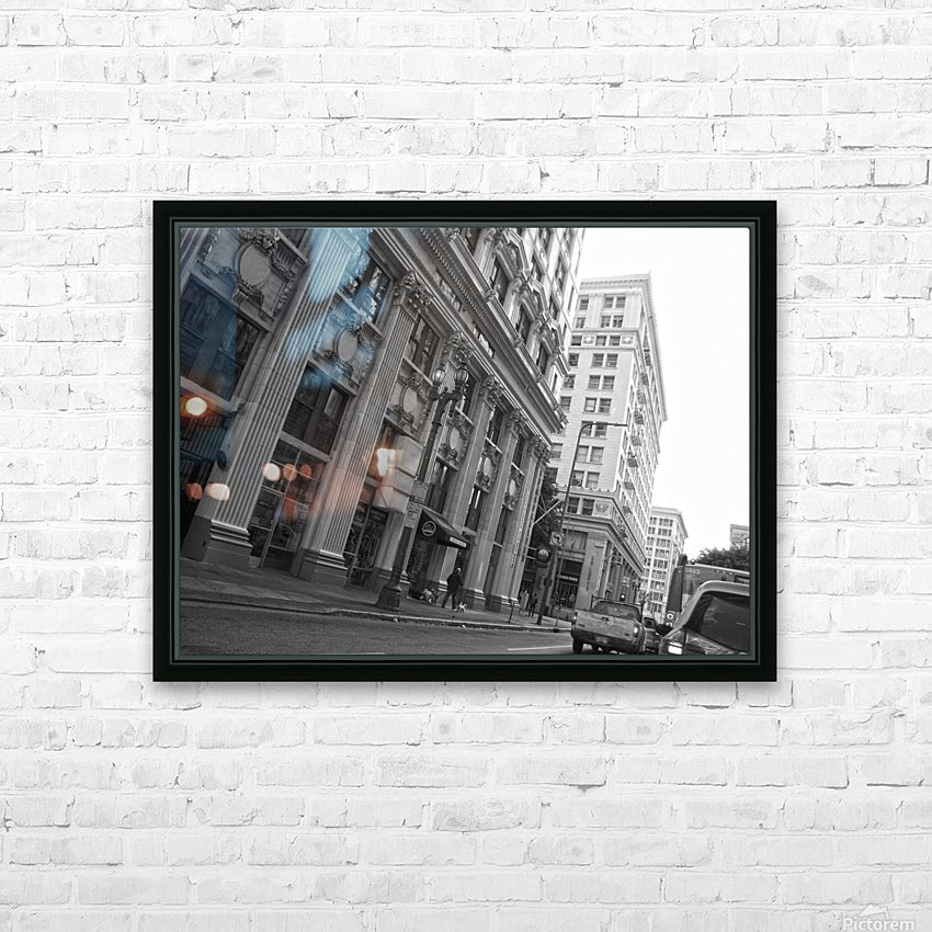 6th & Spring DTLA - B&W HD Sublimation Metal print with Decorating Float Frame (BOX)