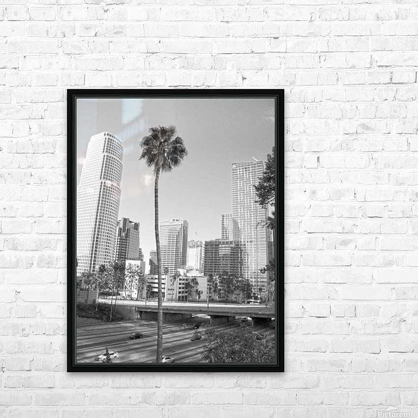 DTLA Palm Tree HD Sublimation Metal print with Decorating Float Frame (BOX)