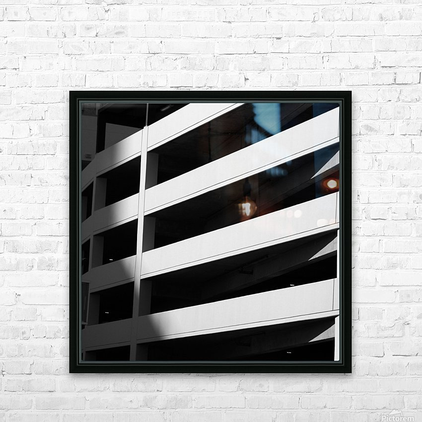 Bold Bands in Black & White HD Sublimation Metal print with Decorating Float Frame (BOX)