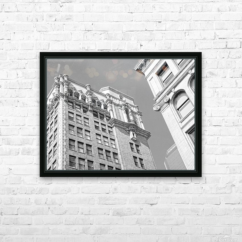 DTLA South Broadway & West 3rd - B&W HD Sublimation Metal print with Decorating Float Frame (BOX)