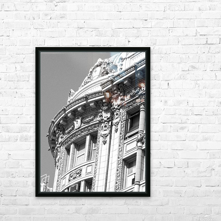 B&W Intricate Details - DTLA HD Sublimation Metal print with Decorating Float Frame (BOX)