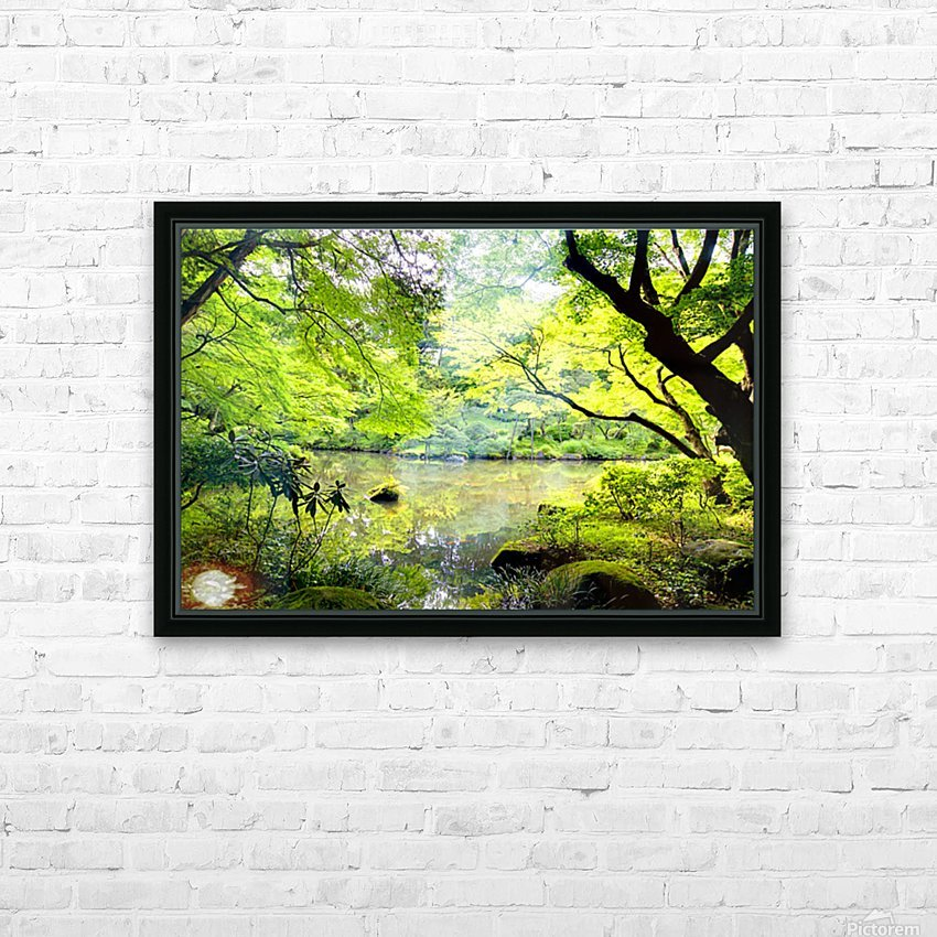 Tokyo Garden HD Sublimation Metal print with Decorating Float Frame (BOX)