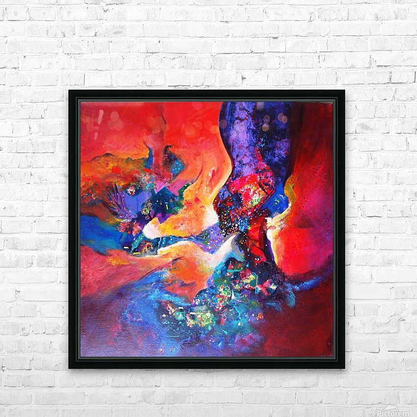 harmony II,size 33 inches x33 inches, medium acrylic on canvas HD Sublimation Metal print with Decorating Float Frame (BOX)
