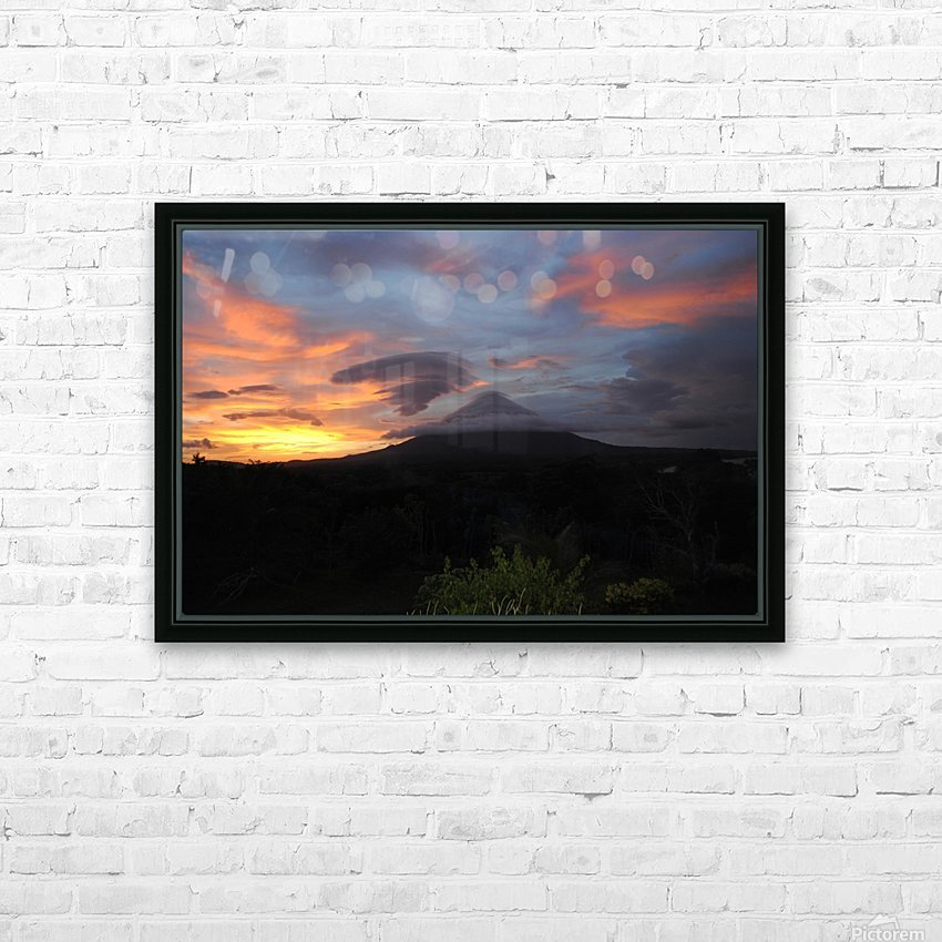 Volcanic Dream HD Sublimation Metal print with Decorating Float Frame (BOX)