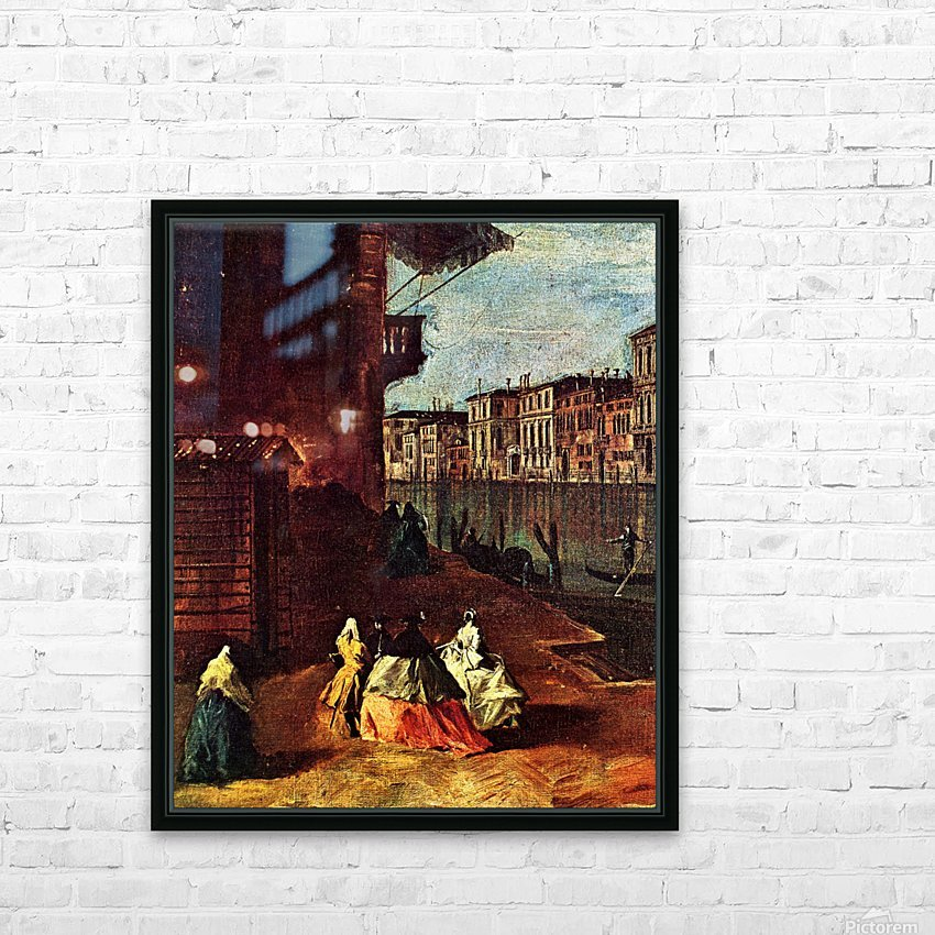 Venice, The Grand Canal with San Geremia, Palazzo Labia, and the Entrance to the Cannaregio HD Sublimation Metal print with Decorating Float Frame (BOX)