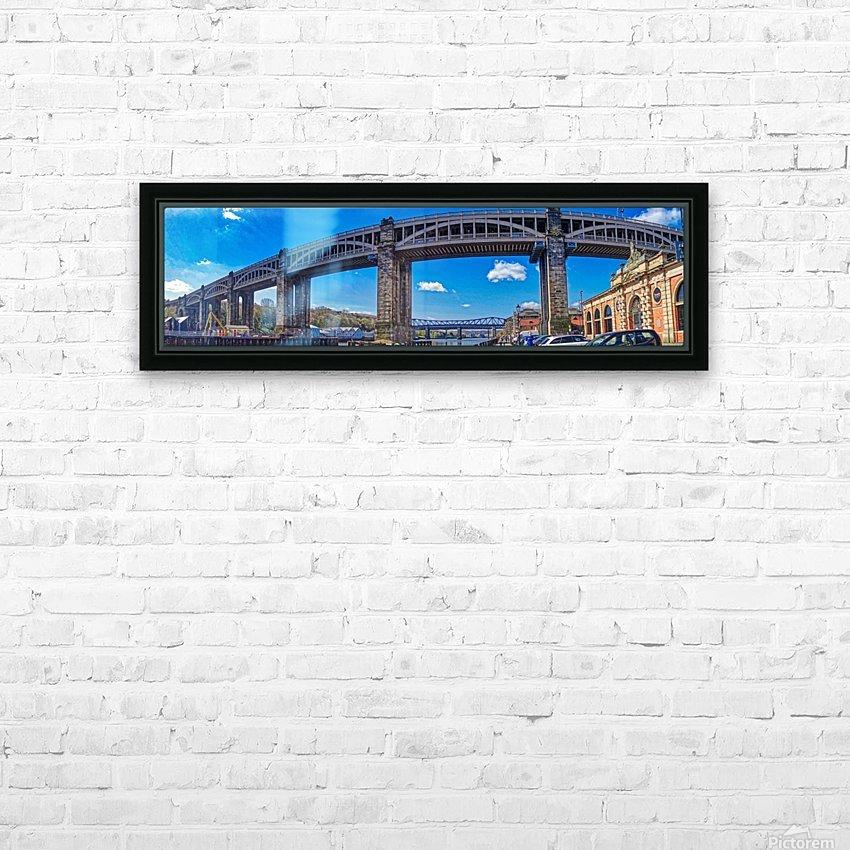 Newcastle railway bridge HD sublimation métal imprimé avec décoration flotteur cadre (boîte)