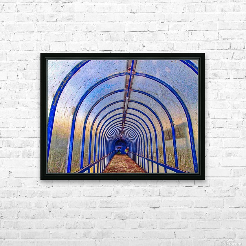 Blue perspective HD Sublimation Metal print with Decorating Float Frame (BOX)