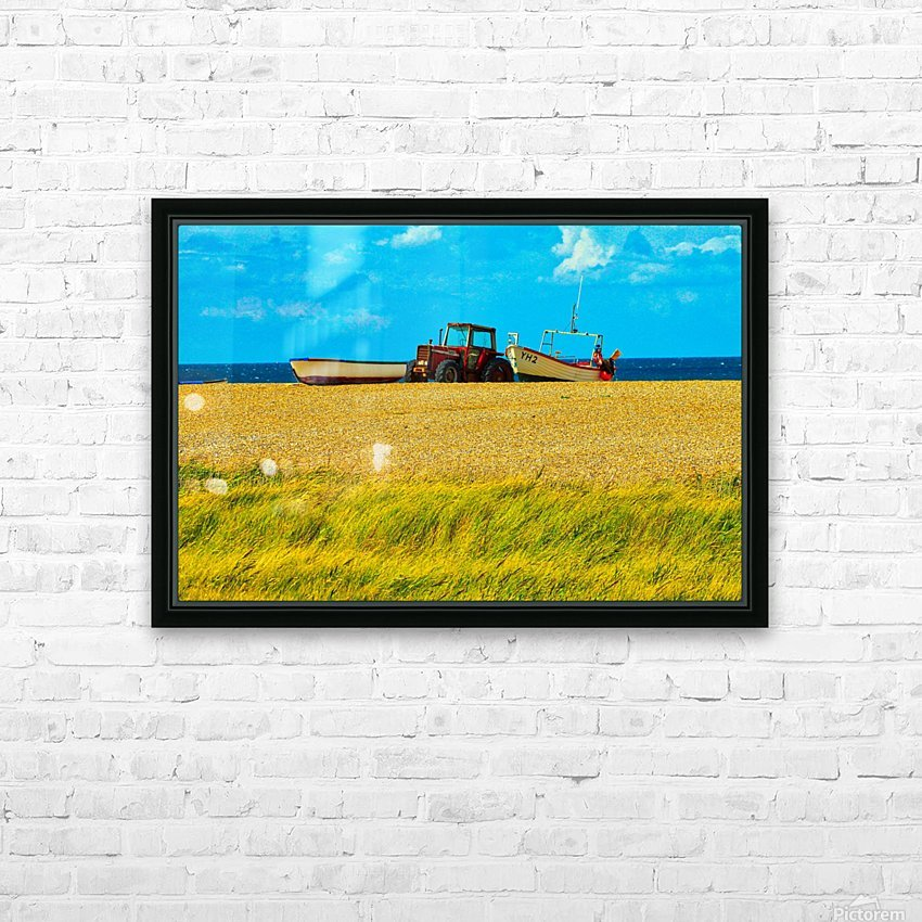 Beach Tractor HD Sublimation Metal print with Decorating Float Frame (BOX)