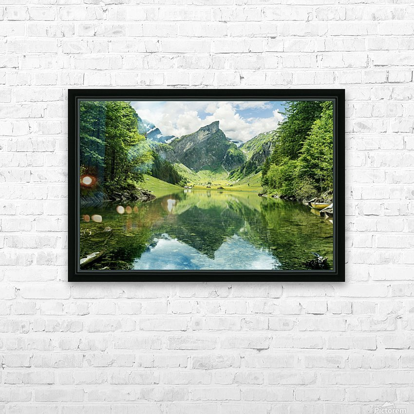 Tranquil scene of seealpsee lake  HD Sublimation Metal print with Decorating Float Frame (BOX)