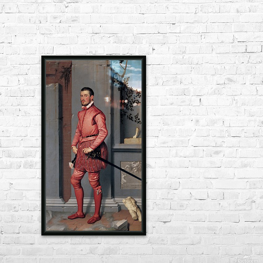 The Gentleman in Pink HD Sublimation Metal print with Decorating Float Frame (BOX)