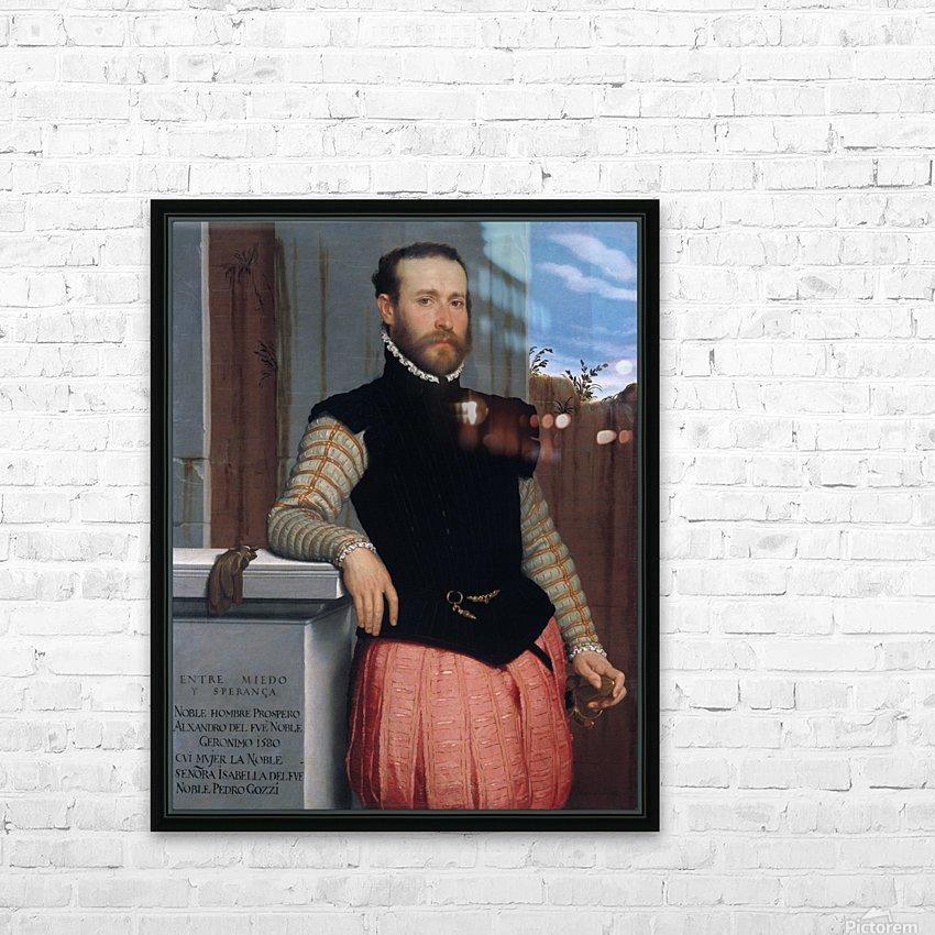 Portrait of Prospero Alessandri HD Sublimation Metal print with Decorating Float Frame (BOX)