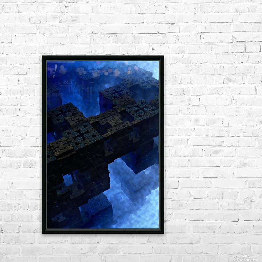 Stones Of Time Fractal Art HD Sublimation Metal print with Decorating Float Frame (BOX)