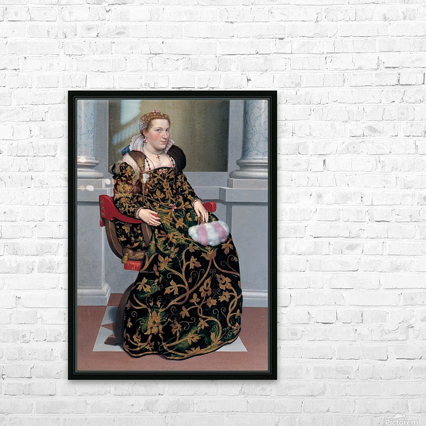 Portrait of Isotta Brembati Grumelli HD Sublimation Metal print with Decorating Float Frame (BOX)