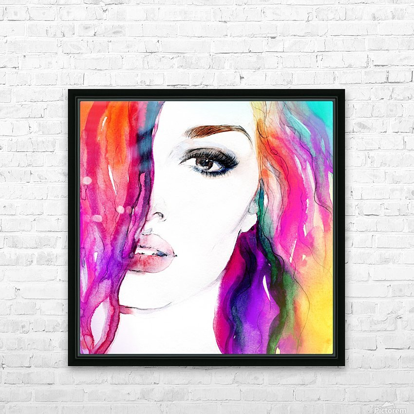 Abstract Woman HD Sublimation Metal print with Decorating Float Frame (BOX)
