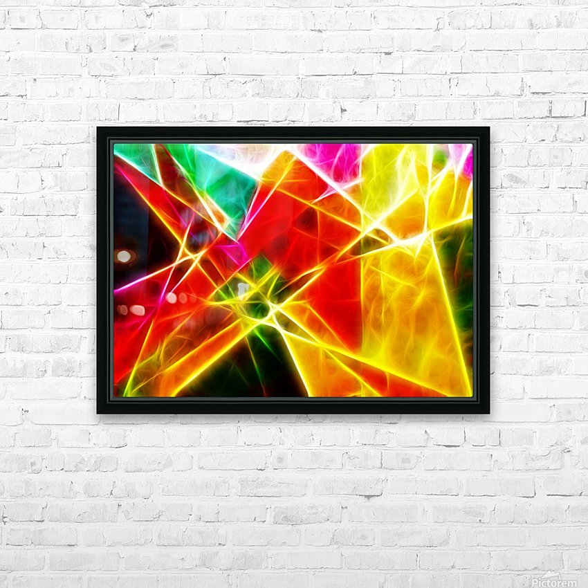 Geometric Colors HD Sublimation Metal print with Decorating Float Frame (BOX)