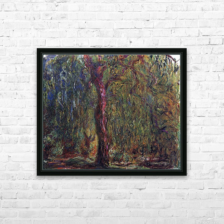 Weeping willow by Monet HD Sublimation Metal print with Decorating Float Frame (BOX)