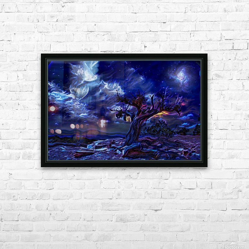 Night Landscape HD Sublimation Metal print with Decorating Float Frame (BOX)