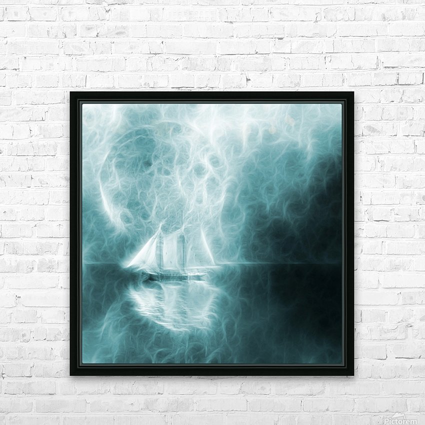 Moonlight Cruise HD Sublimation Metal print with Decorating Float Frame (BOX)