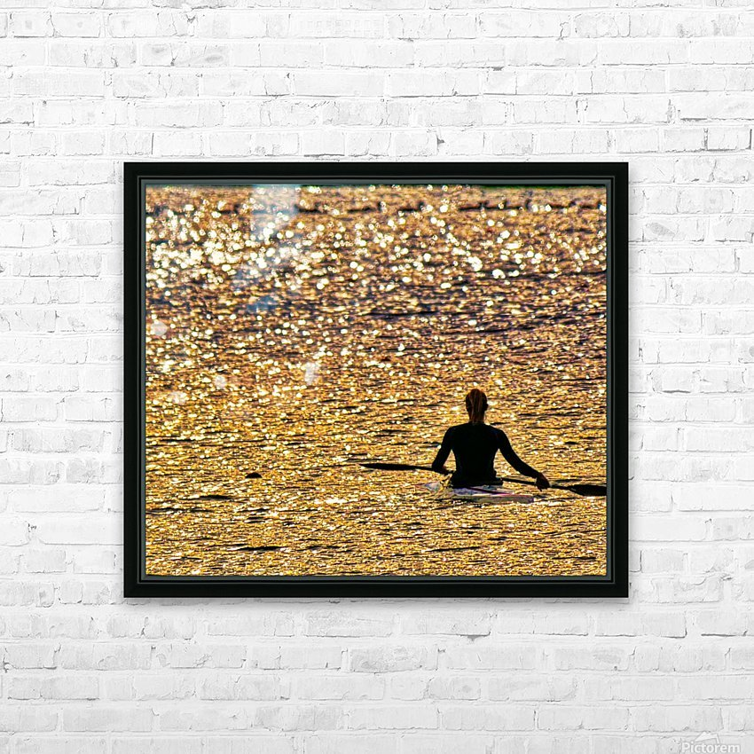 Paddle paused HD Sublimation Metal print with Decorating Float Frame (BOX)