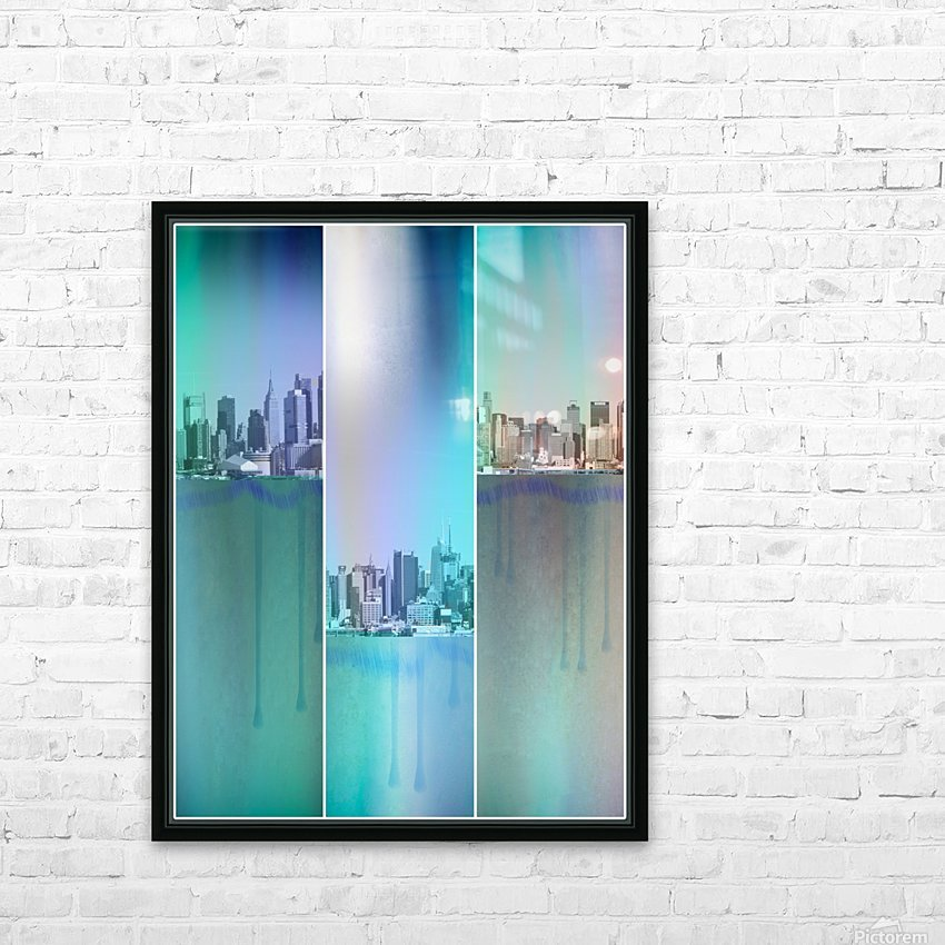New York Art HD Sublimation Metal print with Decorating Float Frame (BOX)