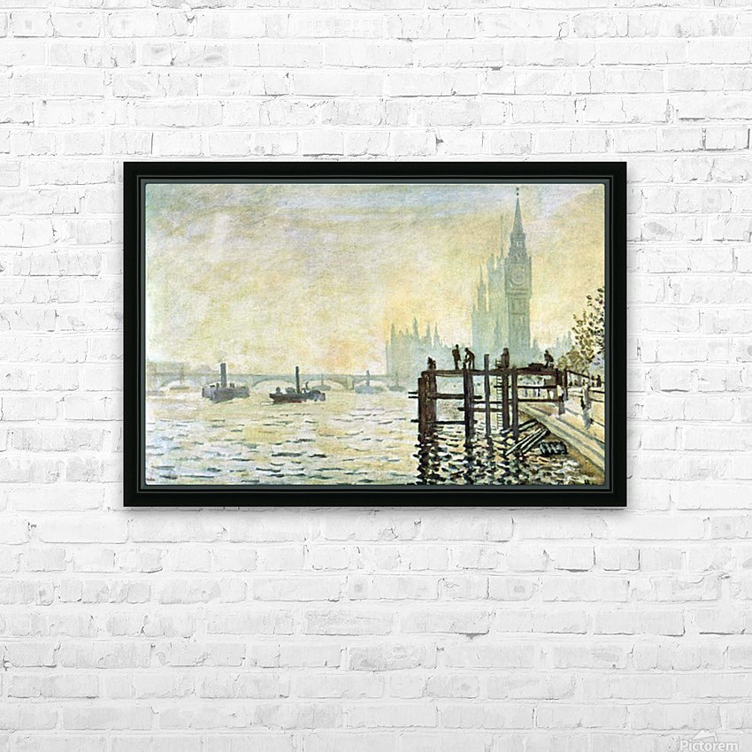 Westminster Bridge in London by Monet HD Sublimation Metal print with Decorating Float Frame (BOX)