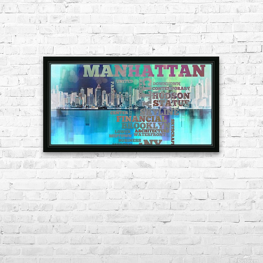 Manhattan harbor HD Sublimation Metal print with Decorating Float Frame (BOX)