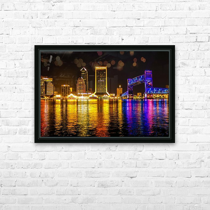 City of Lights HD Sublimation Metal print with Decorating Float Frame (BOX)
