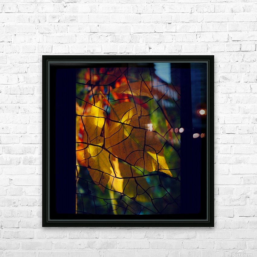 Broken Leaves HD Sublimation Metal print with Decorating Float Frame (BOX)