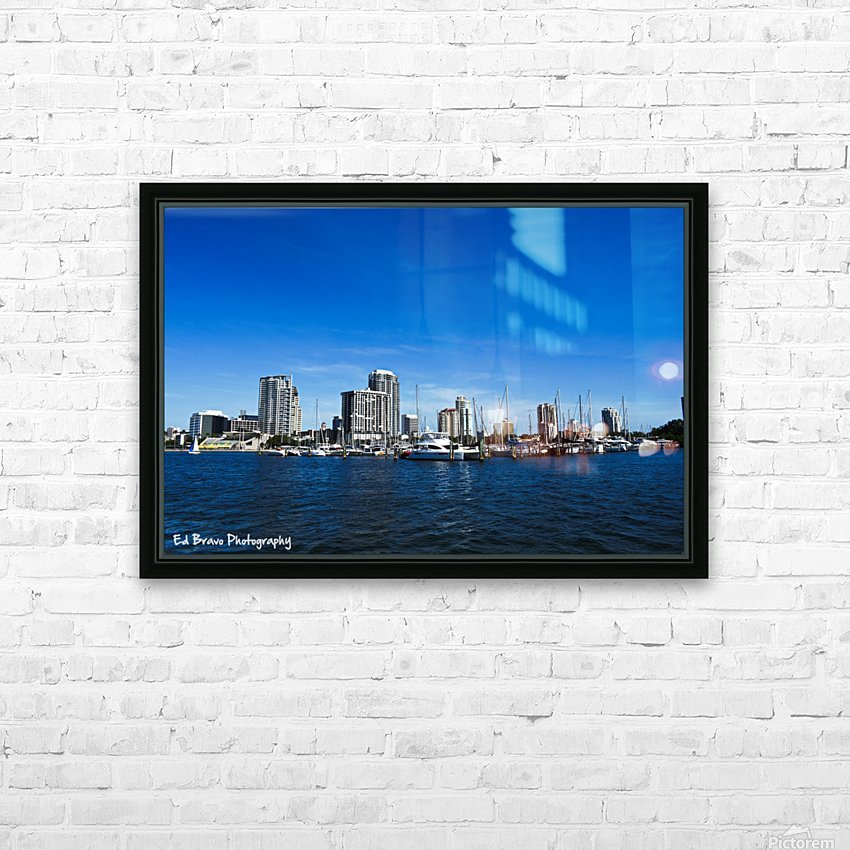 Downtown St Pete  HD Sublimation Metal print with Decorating Float Frame (BOX)