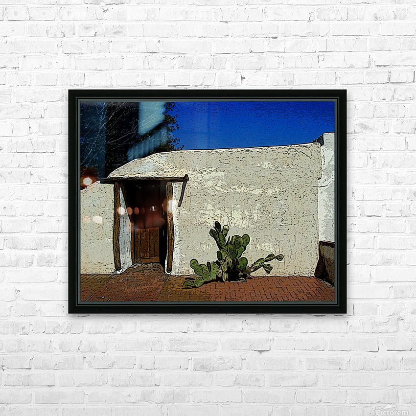 Cactus & Door HD Sublimation Metal print with Decorating Float Frame (BOX)