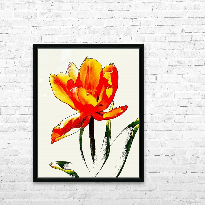 Poppy 3 HD Sublimation Metal print with Decorating Float Frame (BOX)