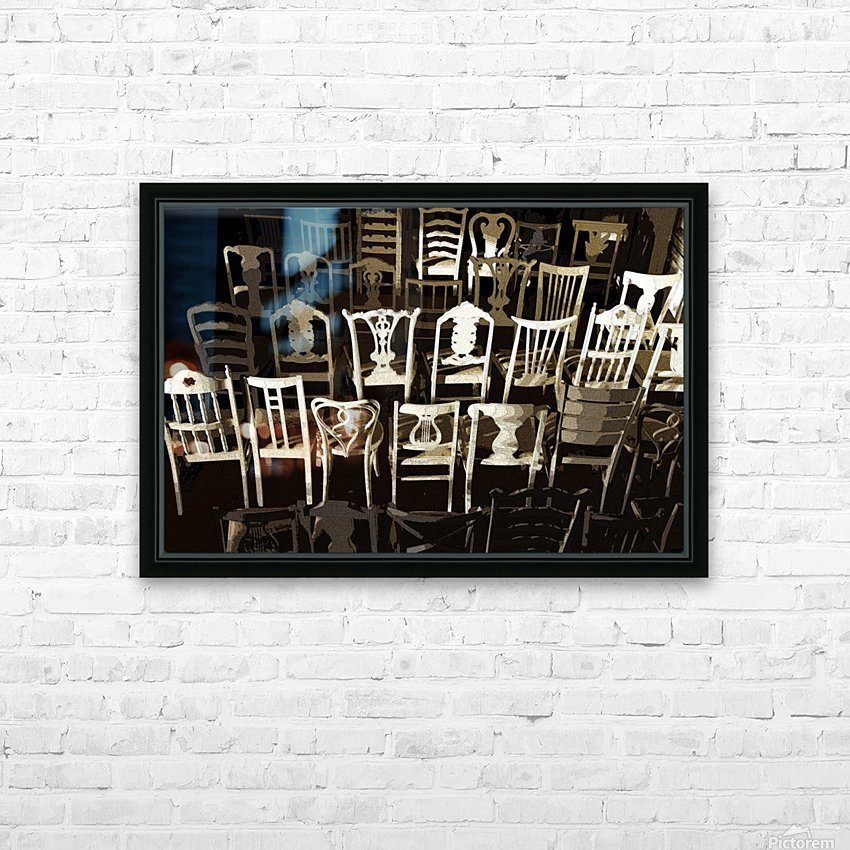 Chairs HD Sublimation Metal print with Decorating Float Frame (BOX)