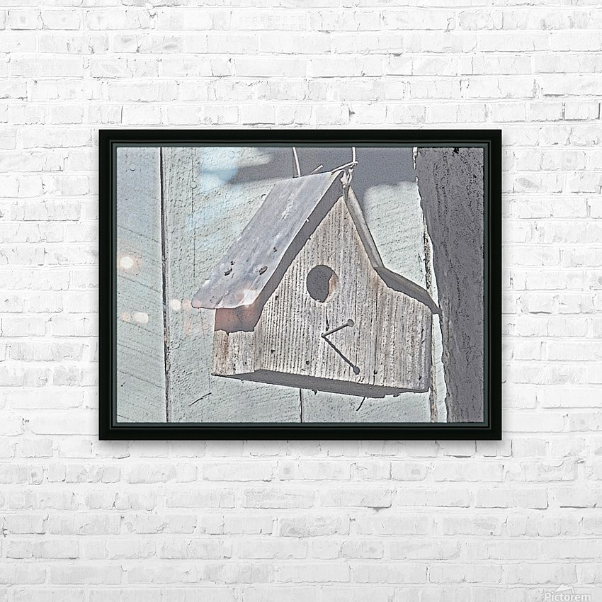 Birdhouse HD Sublimation Metal print with Decorating Float Frame (BOX)