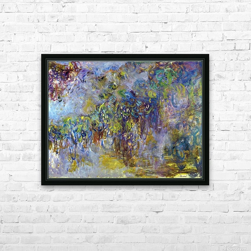 Wisteria -2- by Monet HD Sublimation Metal print with Decorating Float Frame (BOX)
