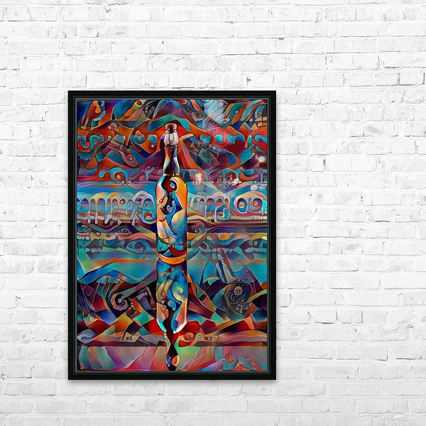 Colors in the bottle HD Sublimation Metal print with Decorating Float Frame (BOX)
