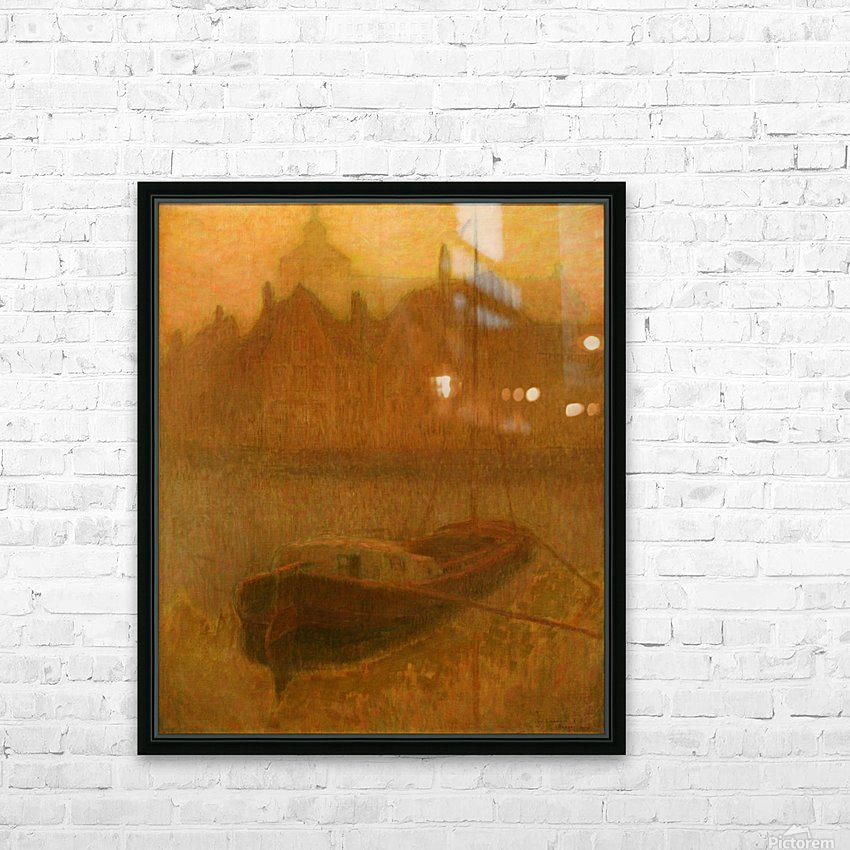 Barque sur le Canal HD Sublimation Metal print with Decorating Float Frame (BOX)