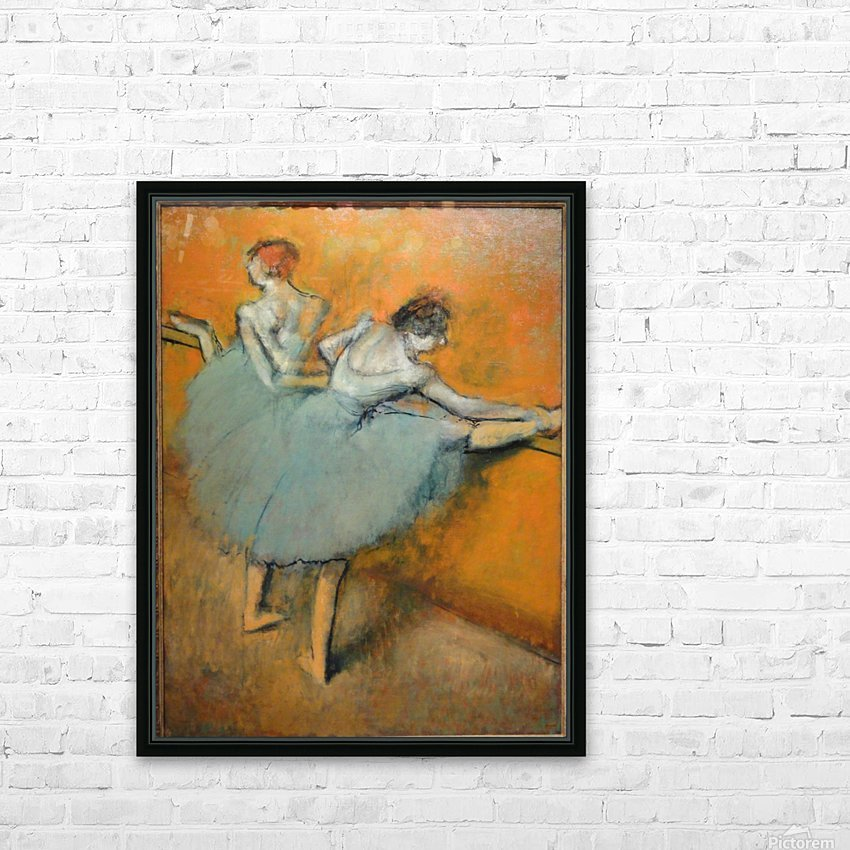 Dancers at the Barre HD Sublimation Metal print with Decorating Float Frame (BOX)