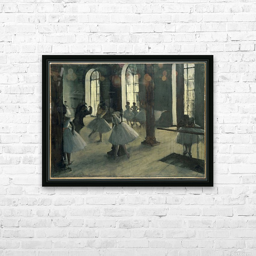 La Repetition au foyer de la danse HD Sublimation Metal print with Decorating Float Frame (BOX)