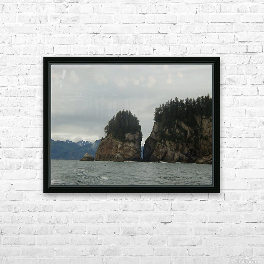 Rocks HD Sublimation Metal print with Decorating Float Frame (BOX)