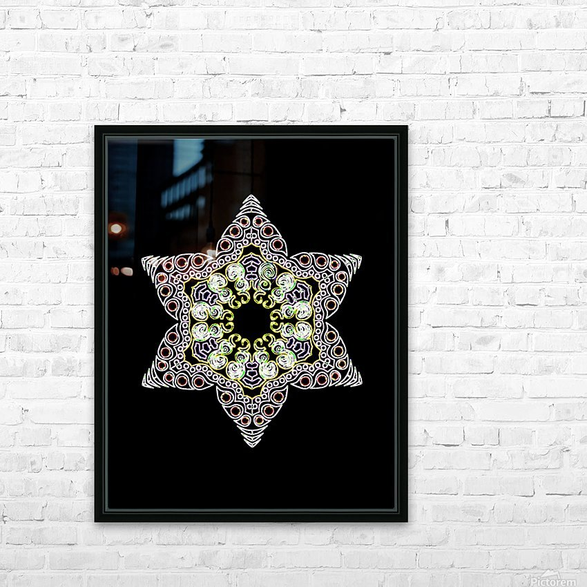 Green Star 1 HD Sublimation Metal print with Decorating Float Frame (BOX)