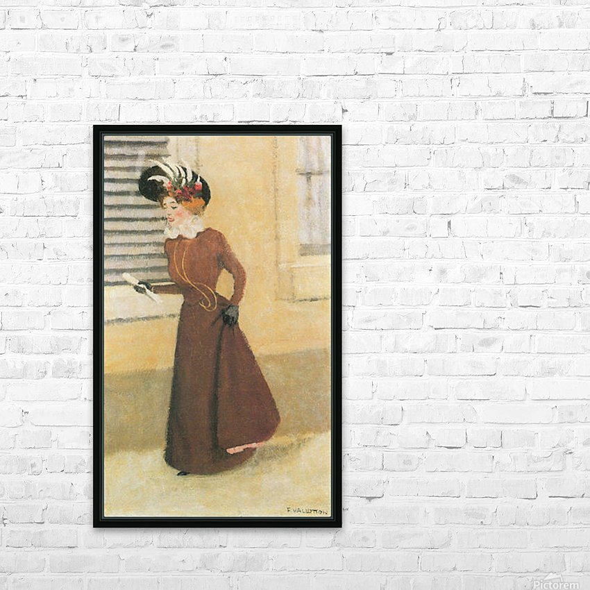 Woman with hat by Felix Vallotton HD Sublimation Metal print with Decorating Float Frame (BOX)