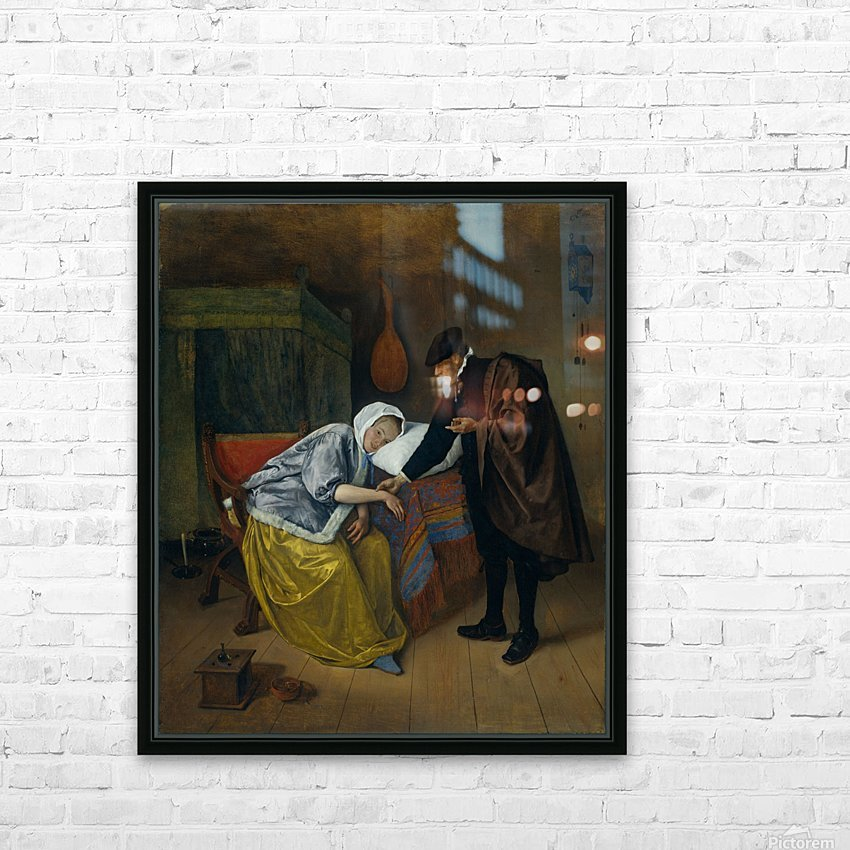 Steen Doctor and His Patient HD Sublimation Metal print with Decorating Float Frame (BOX)