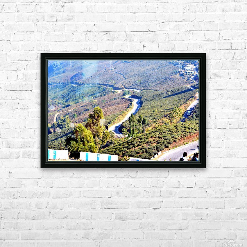 HIMALAYAN ROAD HD Sublimation Metal print with Decorating Float Frame (BOX)
