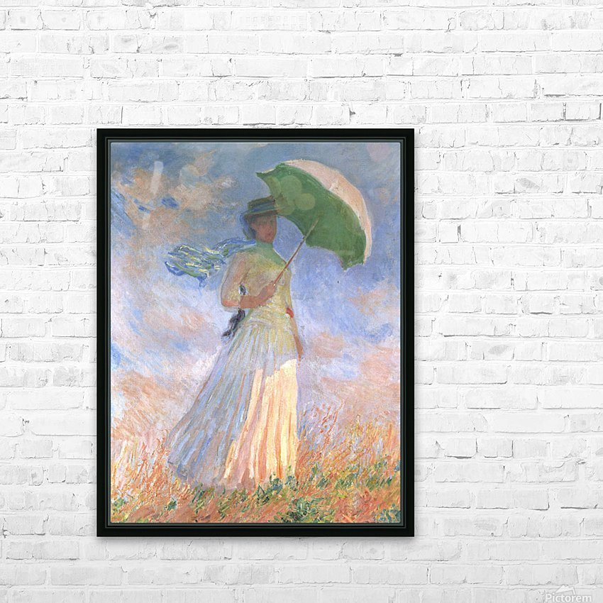 Woman with Parasol HD Sublimation Metal print with Decorating Float Frame (BOX)
