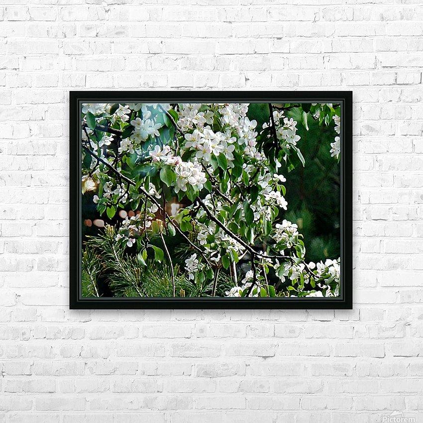 DazzleBlossoms HD sublimation métal imprimé avec décoration flotteur cadre (boîte)