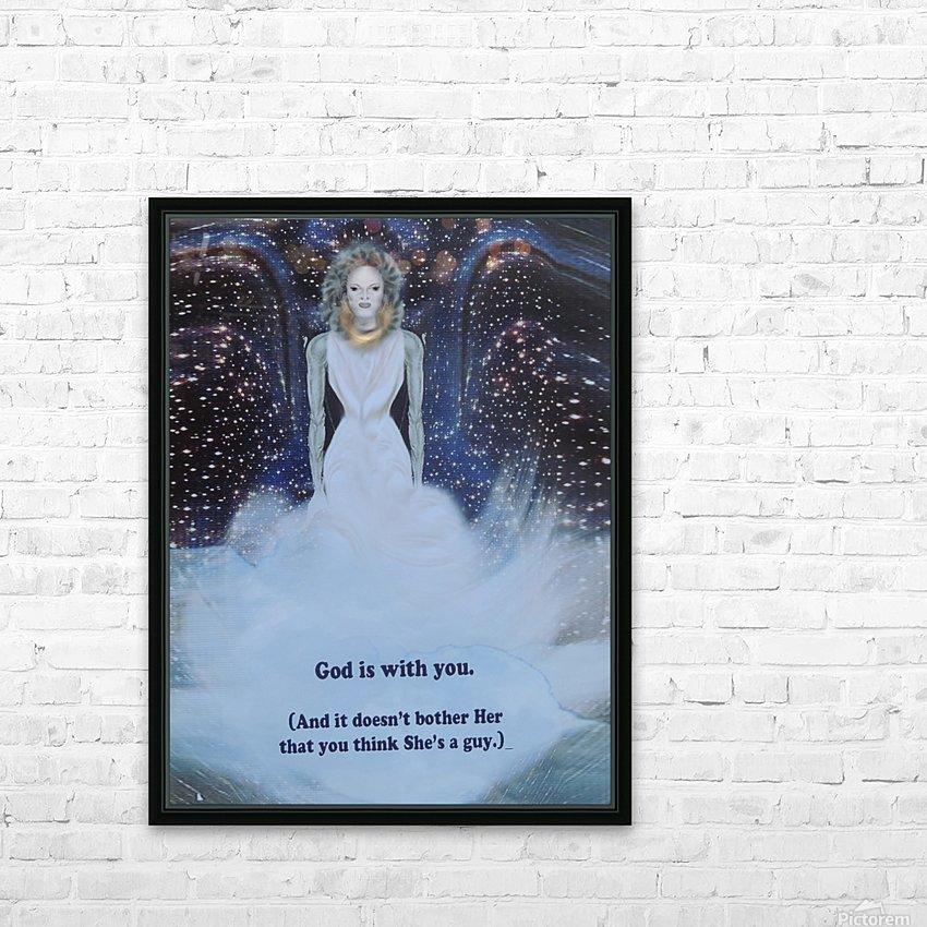 God Is With You1 HD sublimation métal imprimé avec décoration flotteur cadre (boîte)