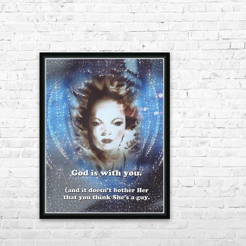 God Is With You2 HD sublimation métal imprimé avec décoration flotteur cadre (boîte)