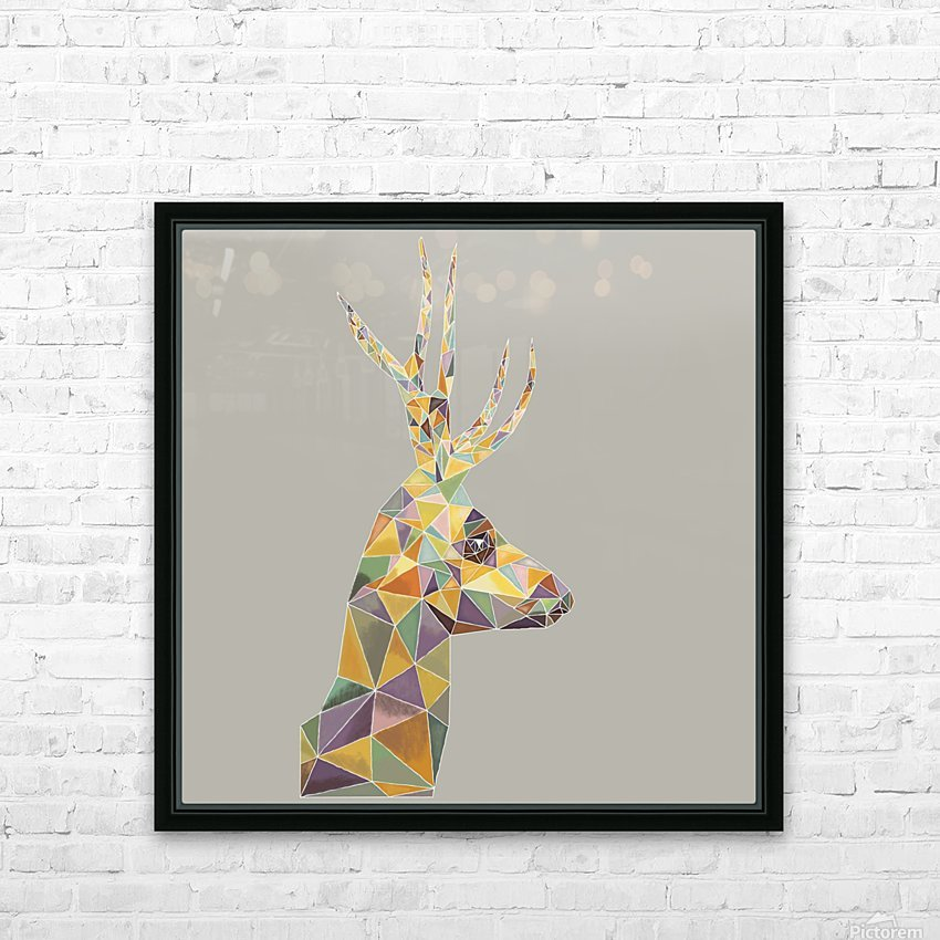 Deer mosaic HD Sublimation Metal print with Decorating Float Frame (BOX)