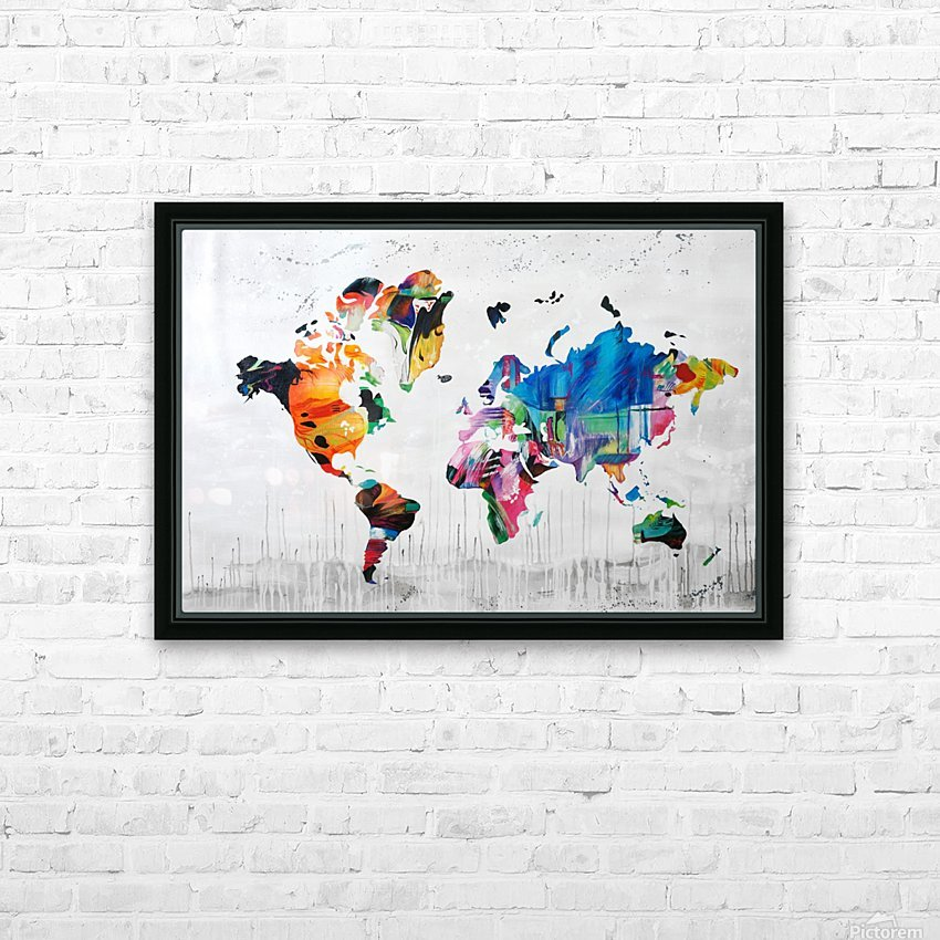 Monde HD Sublimation Metal print with Decorating Float Frame (BOX)